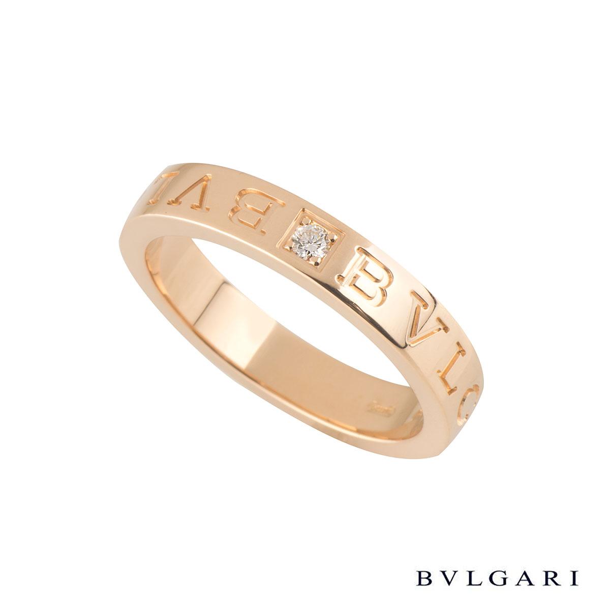 Bvlgari BvlgariRose Gold Diamond Ring AN854185